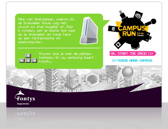 Campus Race Fontys // Win een Wii