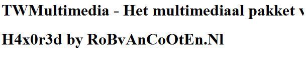 Bewijs 3 van H4x0r3d by RoBvAnCoOtEn.Nl