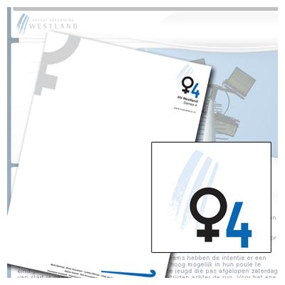 HVWestland Dames 4 briefpapier en beeldmerk